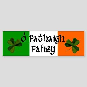 Fahey in Irish & English Bumper Sticker
