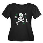 Pot Skull Women's Plus Size Scoop Neck Dark T-Shir
