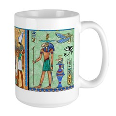 Egyptian Gold/Green Large Mug