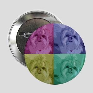 "Shih Tzu Pop Art Missy 2.25"" Button (10 pack)"