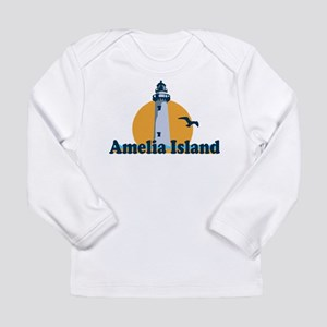 Amelia Island - Lighthouse Design. Long Sleeve T-S