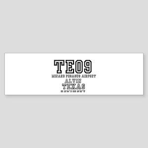 TEXAS - AIRPORT CODES -TE09 - MINAR Bumper Sticker