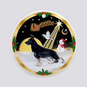 Night Flight-German Shepherd #14 Ornament (Round)