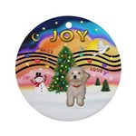 Xmas Music 2 - Havanese Puppy Ornament (Round)