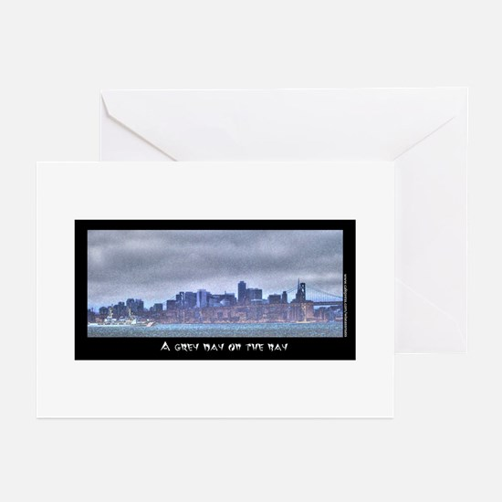 A Grey Day on the Bay Greeting Cards (Pk of 20)