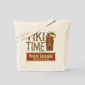Puerto Vallarta Tiki Time - Tote or Beach Bag