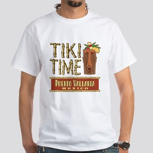 Puerto Vallarta Tiki Time - White T-Shirt