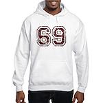 Number 69 Hooded Sweatshirt