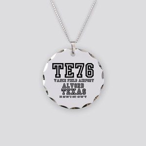 TEXAS - AIRPORT CODES - TE76 Necklace Circle Charm