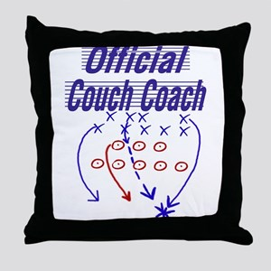 Football Couch Coach Throw Pillow
