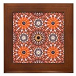 Central Star Framed Tile