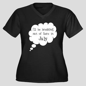 """""""Breaking Out July"""" Women's Plus Size V-Neck Dark"""