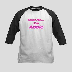 Trust Me I'm Abbie Kids Baseball Jersey