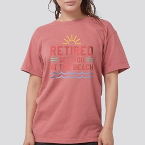 Retired See You At The Beach White T-Shirt