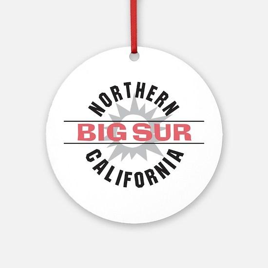 Big Sur California Ornament (Round)
