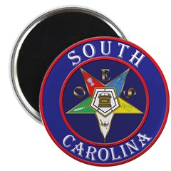 South Carolina OES in a circle Magnet