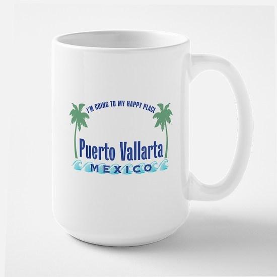 Puerto Vallarta Happy Place - Large Mug