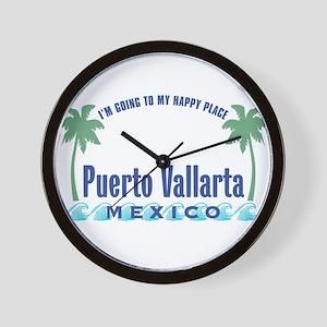 Puerto Vallarta Happy Place - Wall Clock