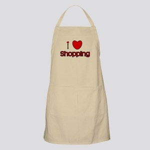 I Love Shopping BBQ Apron
