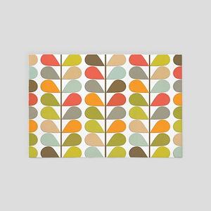 Mid Century Modern Colorful Fern 4' x 6' Rug