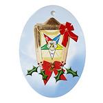 OES Christmas Lantern Keepsake (Oval)