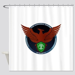 Red Seal of Harmonic Empire Shower Curtain