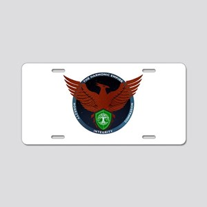 Red Seal of Harmonic Empire Aluminum License Plate