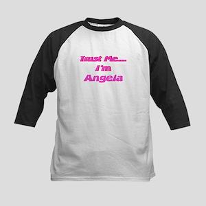 Trust Me I'm Angela Kids Baseball Jersey