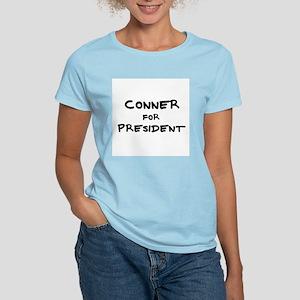 Conner for President Women's Pink T-Shirt