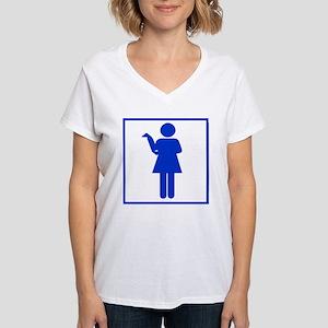 """""""Zetas Only"""" Women's V-Neck T-Shirt"""