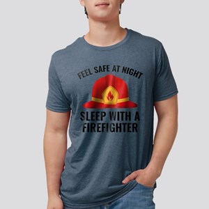 Sleep With A Firefighter White T-Shirt