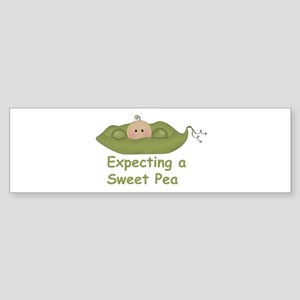 Expecting A Sweet Pea Bumper Sticker