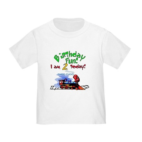 Train 2nd Birthday Toddler T-Shirt