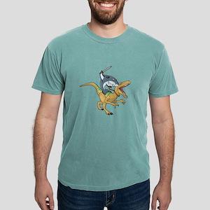 shark riding dino trex dinosaur animal tsh T-Shirt