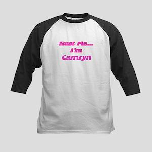 Trust Me I'm Camryn Kids Baseball Jersey