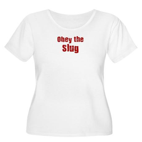 Obey the Slug Women's Plus Size Scoop Neck T-Shirt