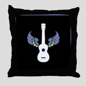 Flying Guitar Throw Pillow