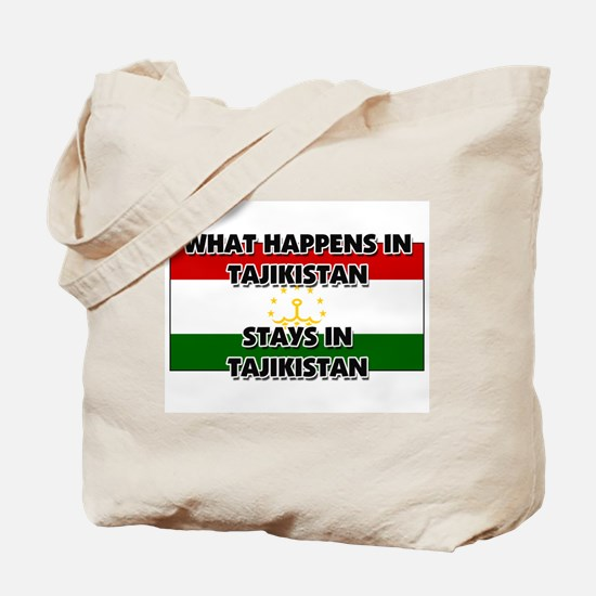 What Happens In TAJIKISTAN Stays There Tote Bag