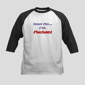 Trust Me I'm Michael Kids Baseball Jersey