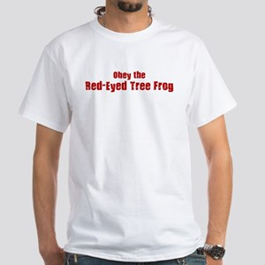 Obey the Red-Eyed Tree Frog White T-Shirt