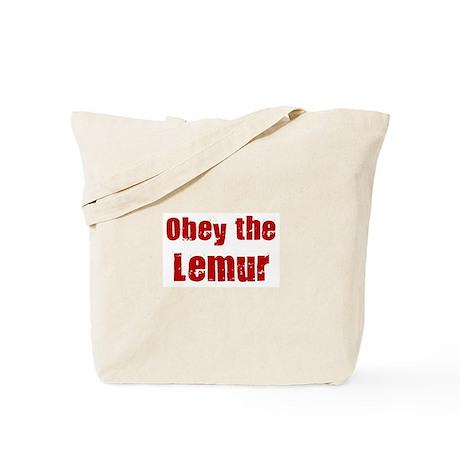 Obey the Lemur Tote Bag
