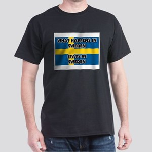 What Happens In SWEDEN Stays There Dark T-Shirt