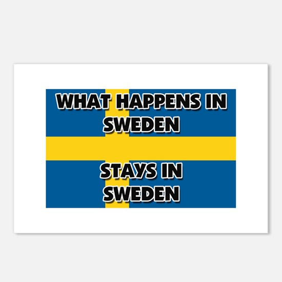 What Happens In SWEDEN Stays There Postcards (Pack