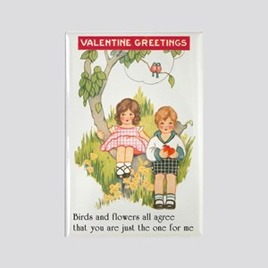 Valentine Greetings Rectangle Magnet