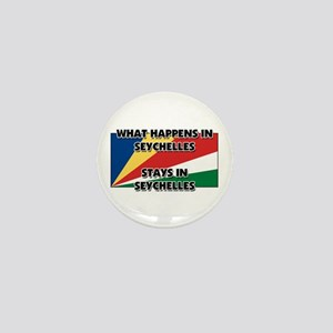 What Happens In SEYCHELLES Stays There Mini Button