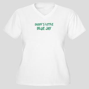 Daddys little Blue Jay Women's Plus Size V-Neck T-