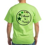 """Different Is Normal"" Green T-Shirt 3"