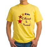 """Different Is Normal"" Yellow T-Shirt 3"