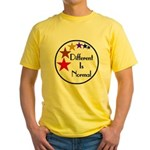 """Different Is Normal"" Yellow T-Shirt 2"