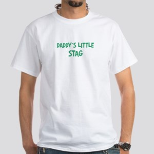 Daddys little Stag White T-Shirt